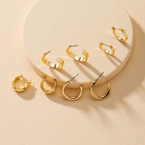 populares nuevos 4 pares de pendientes de hebilla de oreja de metal al por mayor NHGU251675's discount tags
