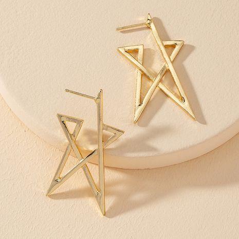 popular nuevo 1 par de pendientes geométricos de cinco estrellas de metal al por mayor NHGU251680's discount tags