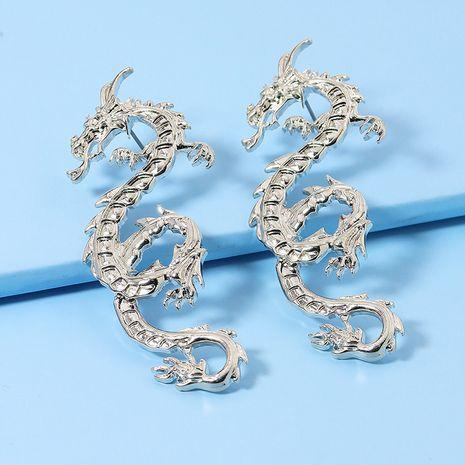 Nuevo par popular de pendientes vendedores calientes de dragón de metal al por mayor NHGU251687's discount tags