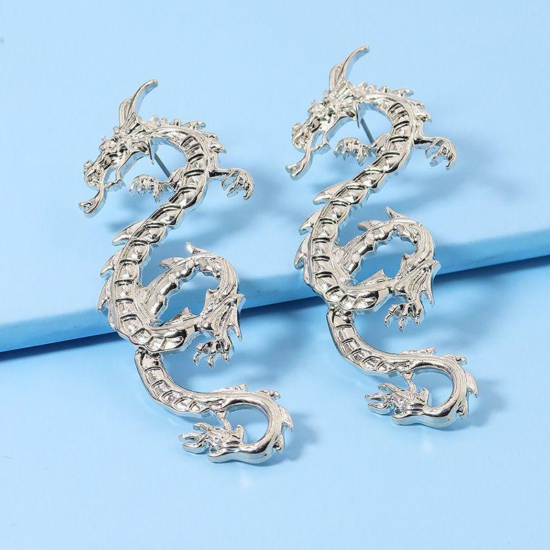 popular new pair of metal dragon hot selling earrings wholesale NHGU251687