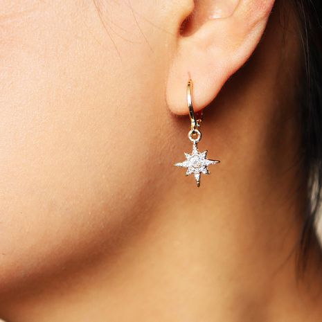 populares nuevos pendientes de diamantes de estrella de ocho puntas al por mayor NHGU251709's discount tags
