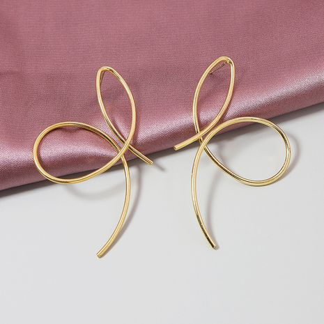 popular nuevo 1 par de línea de metal que vende pendientes de joyería al por mayor NHGU251710's discount tags