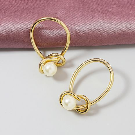 Pendientes vendedores calientes de la perla de la nueva línea popular del metal al por mayor NHGU251711's discount tags