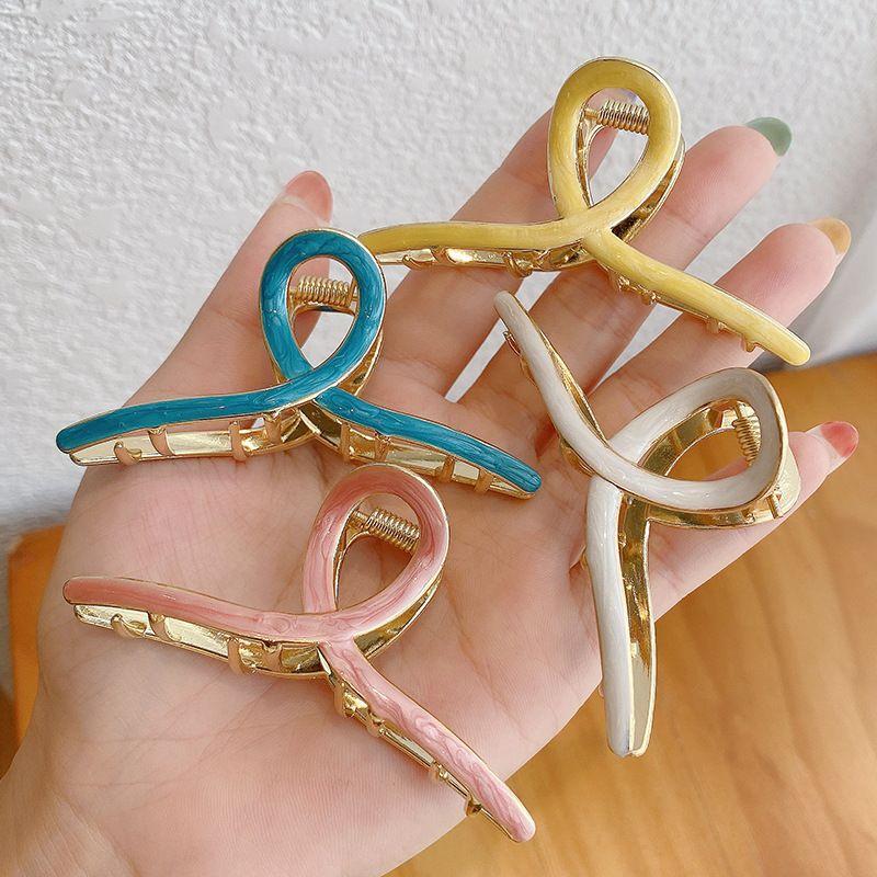 Korea new style alloy cross hairpin ball head set hair clip cute hair catching wholesale NHCQ251780