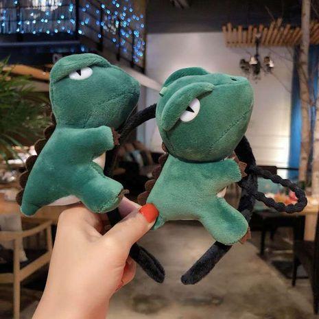 Cartoon big dinosaur doll cute headband Korean germination card selling cute hairpin brooch wholesale NHCQ251788's discount tags