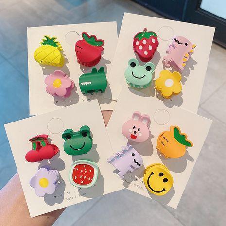 Korea new cute small clip cartoon dripping oil dinosaur flower fruit hairpin wholesale NHCQ251797's discount tags