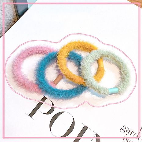 plush hair scrunchies autumn and winter fur hair rope balls head rope simple high elastic band wholesale NHNA251437's discount tags