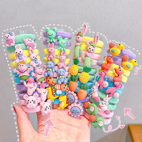 Korean small hair ring children cute hair rope cartoon hair rubber band wholesale NHNA251433's discount tags