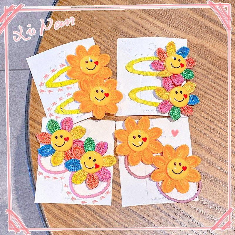 Cute childrens hairpin hair accessories sun flower head rope Korean baby hairpin headdress wholesale NHNA251435