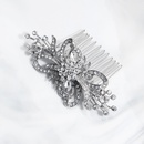 Fashion ethnic exotic retro alloy flower diamond hair comb  NHHS255935