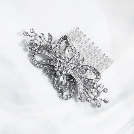 Fashion ethnic exotic retro alloy flower diamond hair comb  NHHS255935's discount tags