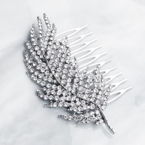Peigne de mariée classique de mode feuilles et branches en alliage de cheveux peigne NHHS255944's discount tags