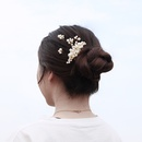 Fashion sweet handmade pearl hairpin wedding plate and comb set NHHS255949
