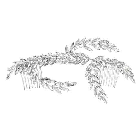 hot style insert comb leaf  branch handmade rhinestone bridal jewelry wholesale NHHS255956's discount tags