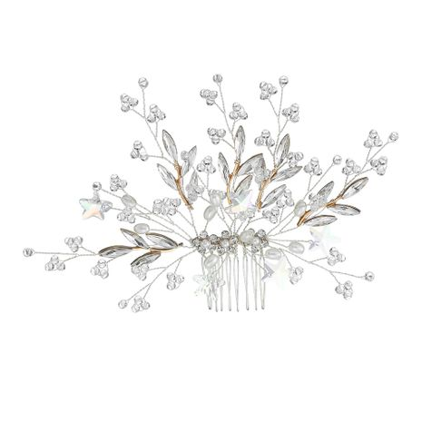 Fashion beautiful handmade crystal hair comb wholesale NHHS255959's discount tags