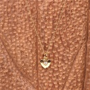 hotselling love copper inlaid zirconium heart pendant clavicle chain trendy necklace for women  NHPY255991