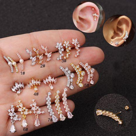 Boucles d'oreilles à vis à tige mince en acier inoxydable créatif coréen NHEN256011's discount tags