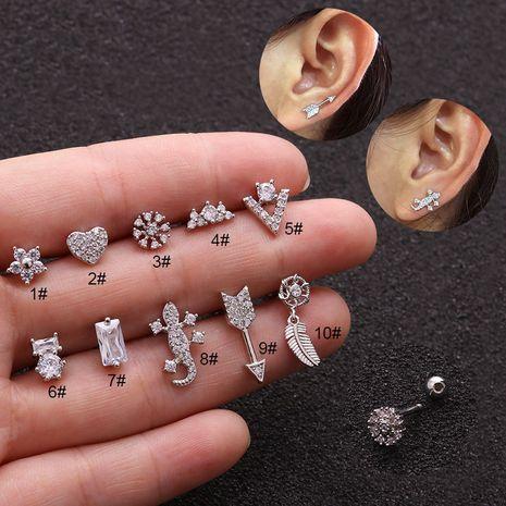 nouvelle mode gecko vis flèche exagérée oreille os ongles boucles d'oreilles cartilage carré NHEN256018's discount tags