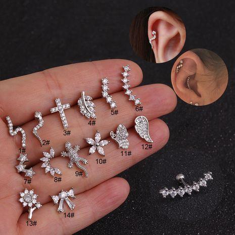 boucles d'oreilles en acier inoxydable à vis zircon NHEN256020's discount tags