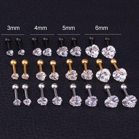 boucles d'oreilles créatives en acier inoxydable zircon en forme de cœur NHEN256021's discount tags