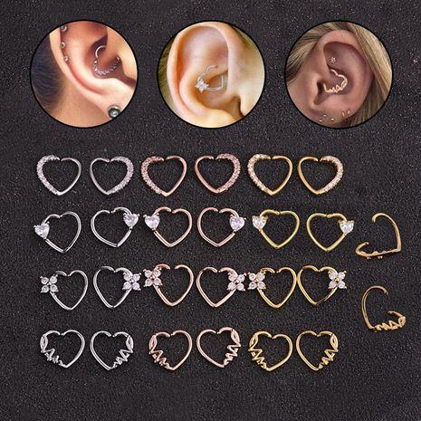 Vente chaude micro-incrusté de zircon anneau de nez rond boucles d'oreilles coeur pêche NHEN256022's discount tags