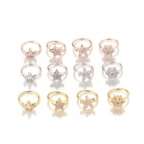 Fashion micro-inlaid zircon nose ring tragus ear bone piercing earrings wholesale NHEN256024's discount tags