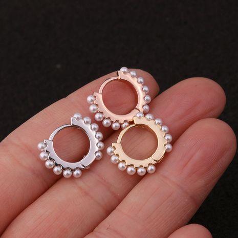nouvelle mode boucles d'oreilles créatives simples incrustées de perles NHEN256027's discount tags
