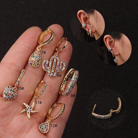 Vente en gros de boucles d'oreilles de couleur créative NHEN256030's discount tags