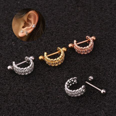 Nouvelle personnalité en forme de U clip d'oreille en acier inoxydable boucles d'oreilles à vis à aiguille fine NHEN256031's discount tags