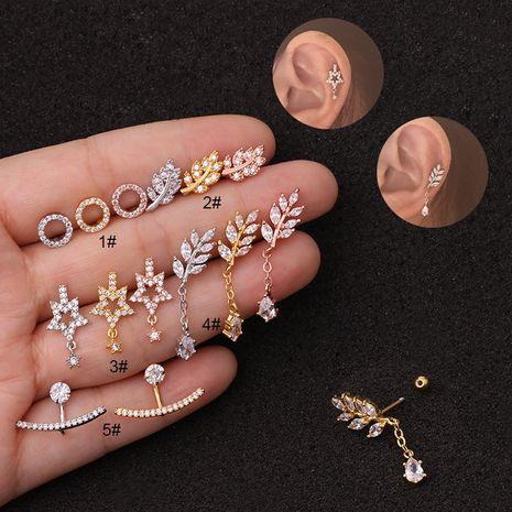 Boucles d'oreilles à la mode en acier inoxydable avec pendentif à vis NHEN256041's discount tags