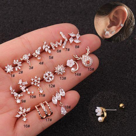 Nouvelles boucles d'oreilles boucles d'oreilles fleurs en acier inoxydable en gros NHEN256043's discount tags