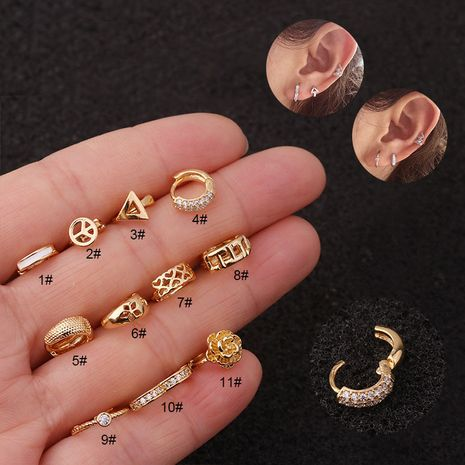 Mini boucles d'oreilles mode aiment les boucles d'oreilles en zircon en forme de coeur en gros NHEN256048's discount tags