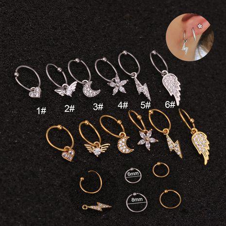 Vente en gros de boucles d'oreilles en acier inoxydable NHEN256049's discount tags