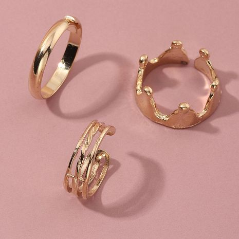 creative fashion metal crown adjustable ring wholesale NHNZ256103's discount tags