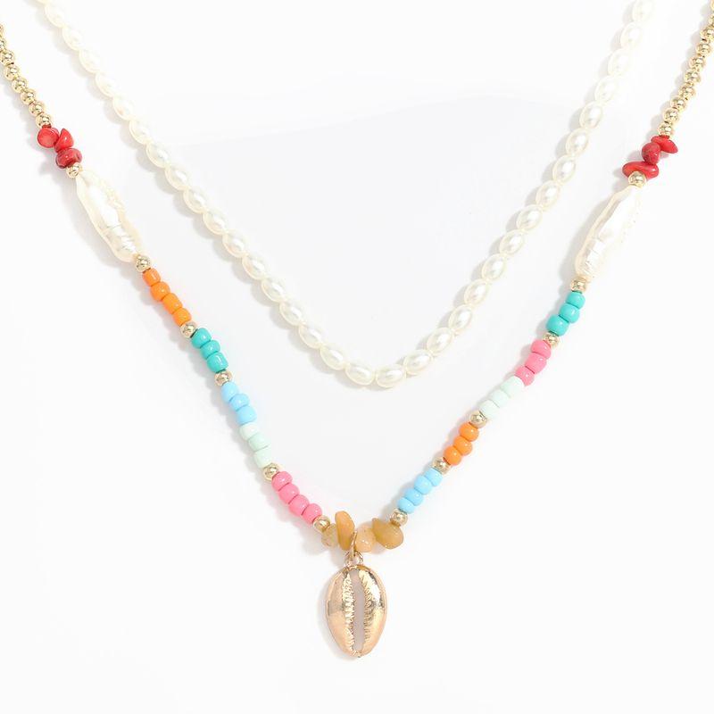 Collier de perles d39imitation de pendentif en alliage de vente chaude NHJE256118