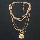 Legierung runde Anhnger mehrschichtige Halskette Retro einfache Halskette Grohandel NHCT256128