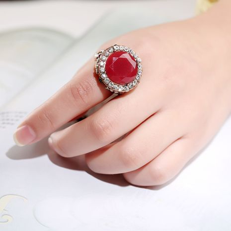 hot sale new style rhinestone resin bohemian retro couple ring  wholesale NHKQ256168's discount tags