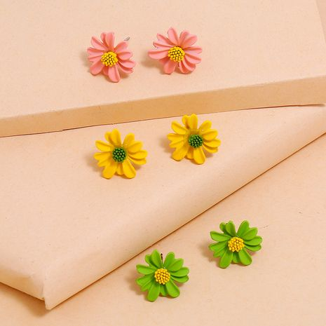 New Fashion Daisy Flower Earrings wholesale NHKQ256176's discount tags