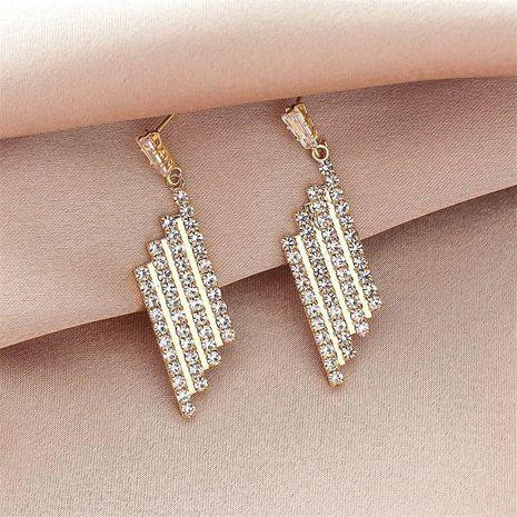 Mode nouvelle aiguille en argent 925 plein diamant nouvelles boucles d'oreilles en alliage simples à la mode pour les femmes NHXI256220's discount tags