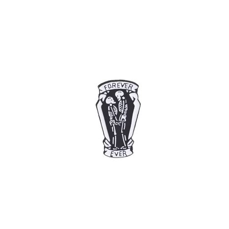 Fashion black coffin logo brooch wholesale NHMO256231's discount tags