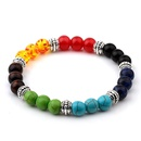 Fashion colorful beads turquoise frosted elastic bracelet NHMO256245