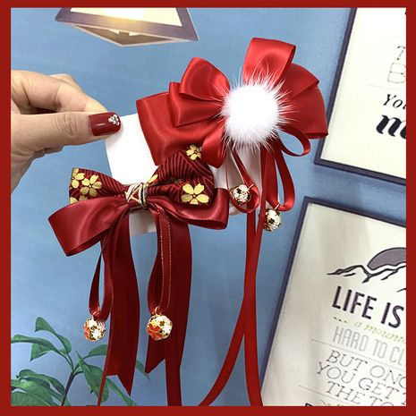 Chinese children New Year's greeting hair clip  NHSA256254's discount tags