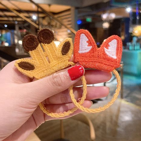 Cute woolen cartoon animal hair ring girl sweet hair scrunchies  NHSA256259's discount tags