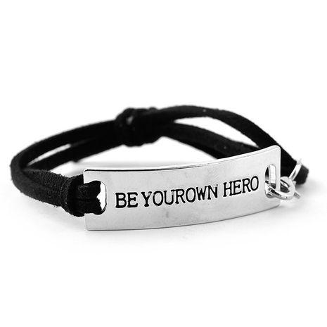 Letras en inglés Be Your Own Hero Weaving pulsera de bricolaje hecha a mano al por mayor NHMO256264's discount tags