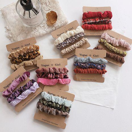 Fashion velvet leopard pattern simple three-piece bowel ring rubber hair scrunchies  NHHI256310's discount tags