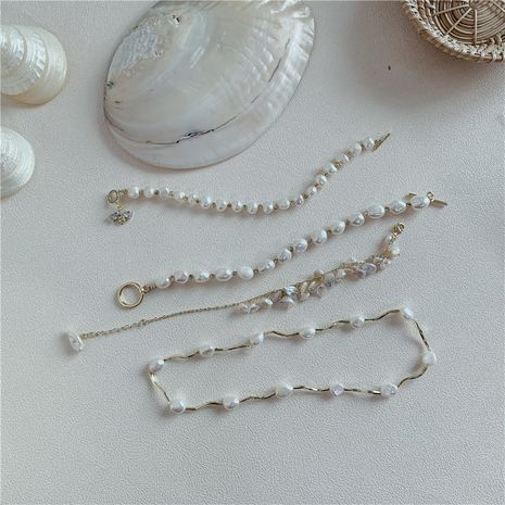 Korea's new Baroque natural freshwater pearl bracelet wholesale NHYQ256324's discount tags