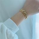 Core bracelet simple lettre bracelet en diamant ou bague en gros NHYQ256336