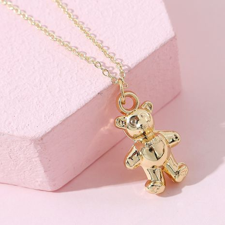 cute sweet little fresh fashion simple bear necklace wholesale NHPS256352's discount tags