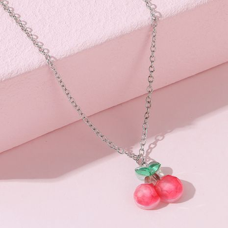 Korean sweet fashion creative small fresh cherry necklace NHPS256356's discount tags