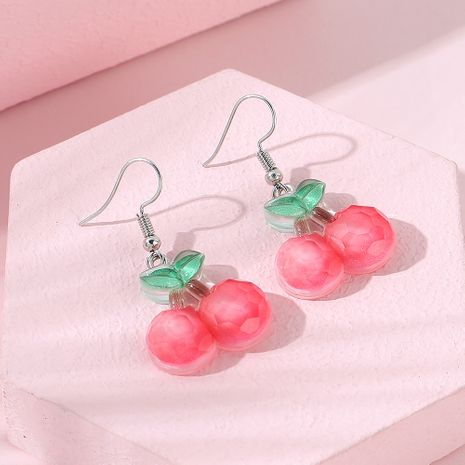 Korean  sweet fashion  trend creative wild cherry earrings NHPS256364's discount tags